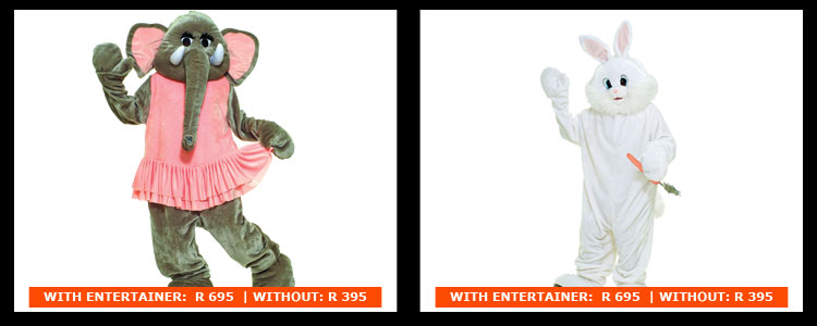 Elephant Easter Bunny Mascot Costumes