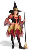 Autumn Witch Kids Costume