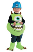 Monsters Inc. Disney Mike Candy Catcher Kids Costume