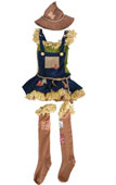 Scarecrow Girl Kids Costume